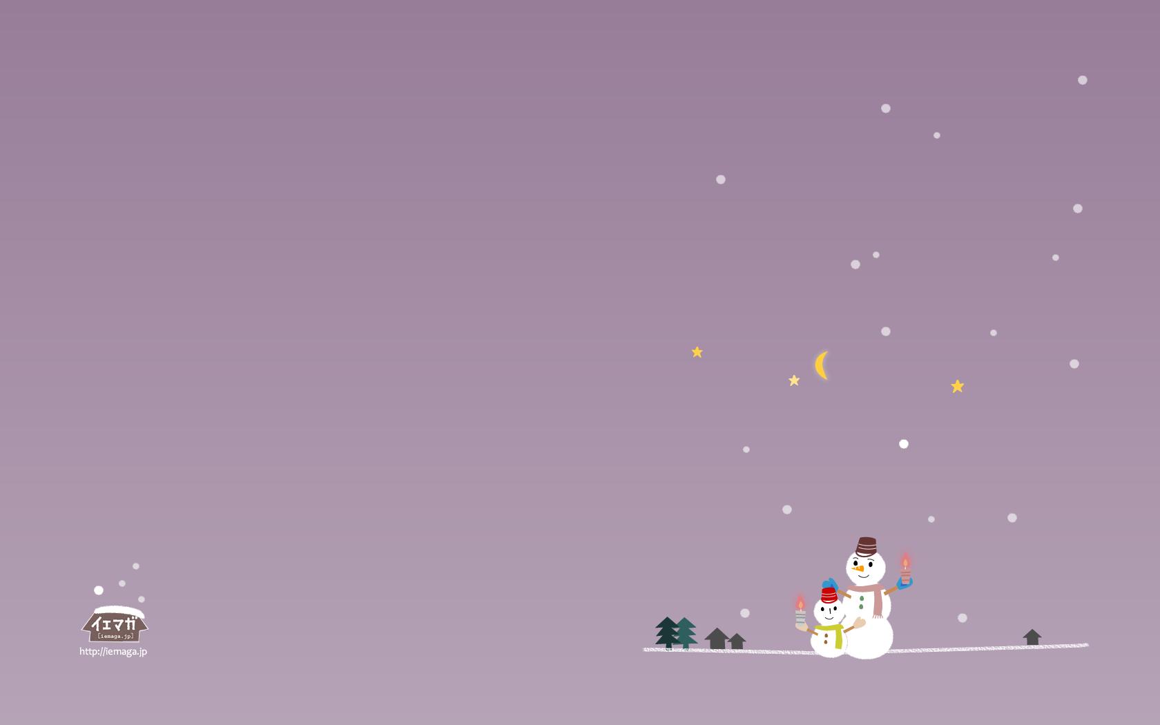 壁紙 カレンダー ダウンロード 雪だるまとろうそく パープル 壁紙