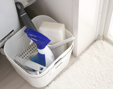 IKEAのカゴは水切りカゴとボウルがセットになったキッチン用品です(現在廃盤)。