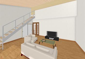 2階リビングや平屋プランであれば、屋根裏収納をロフトとして活用できる可能性があります。吹き抜けに固定階段を設置すれば、空間の有効活用にもつながります。