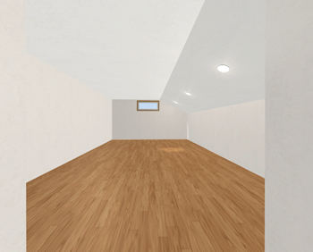 入り組んだレイアウトの屋根裏収納を、隅々まで明るくしたい場合も、分散して設置しやすいダウンライトは便利です。