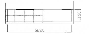 バルコニーの吐き出し窓の前にだけ、テラス屋根を付ける計画です。