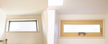 想定外だったのが、キッチンの小窓です。ここまで窓枠で開口面積が減るとは思いませんでした。窓が小さくなっても窓枠の太さが変わらないから、このようになるようです。