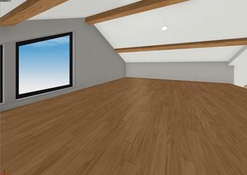 7.5畳のロフトは、現し梁でリビングのインテリアのアクセントにもなっています。