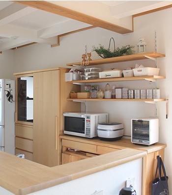 新しい家電は、すぐ使える場所にスペースを確保します。出し入れしやすい場所に置かないと、使わなくなってしまいます。