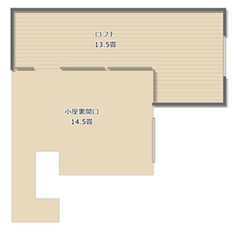 2階リビングの上には、13.5畳の広さのロフトが設けられています。収納スペースとして大活躍しそうです。